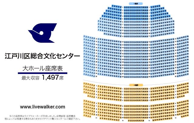江戸川区総合文化センター 大ホール 座席