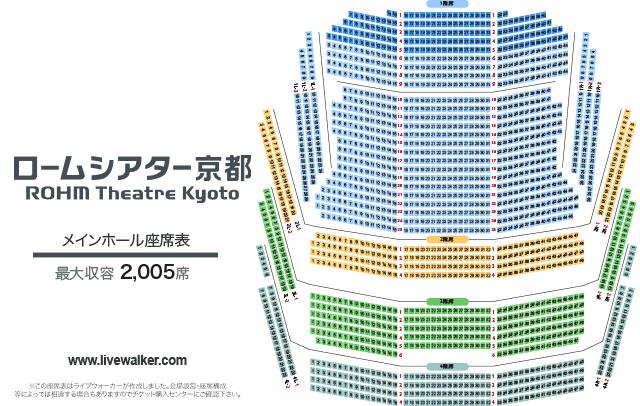 ロームシアター京都 メインホール 座席