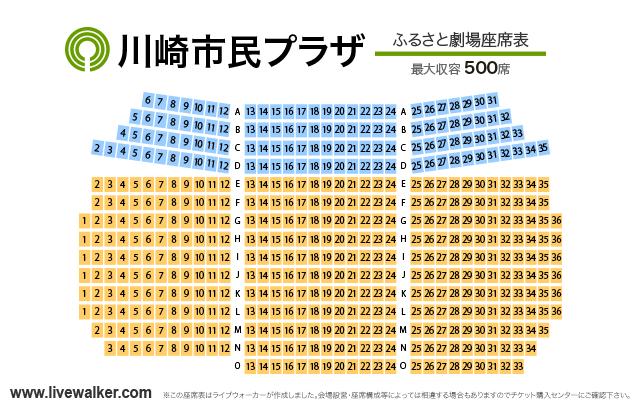 川崎市民プラザ ふるさと劇場 座席