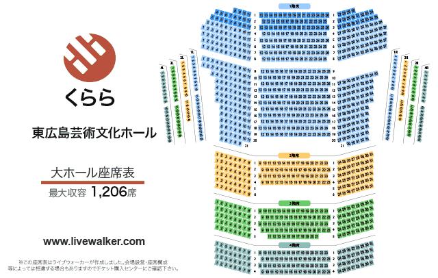 東広島芸術文化ホールくらら 大ホール 座席