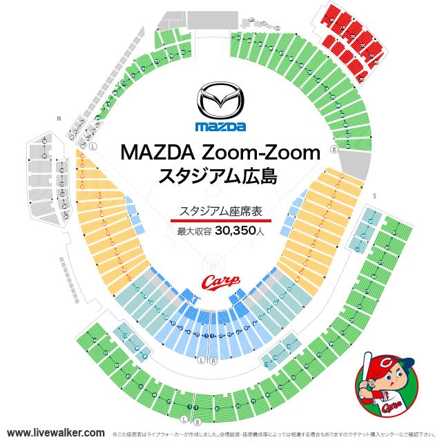 Mazda Zoom-Zoom スタジアム広島 座席