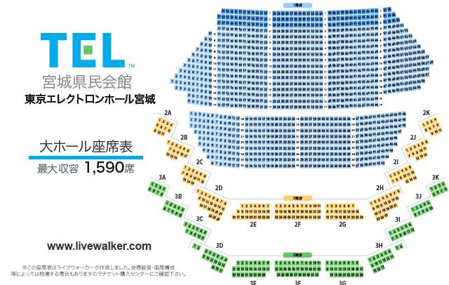 東京エレクトロンホール宮城 大ホール 座席
