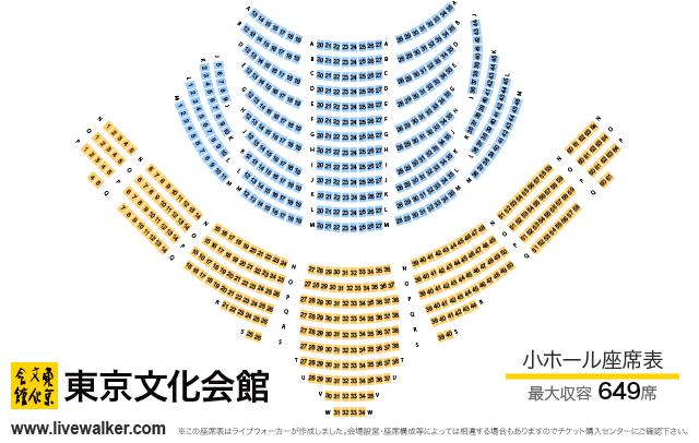 東京文化会館 小ホール 座席