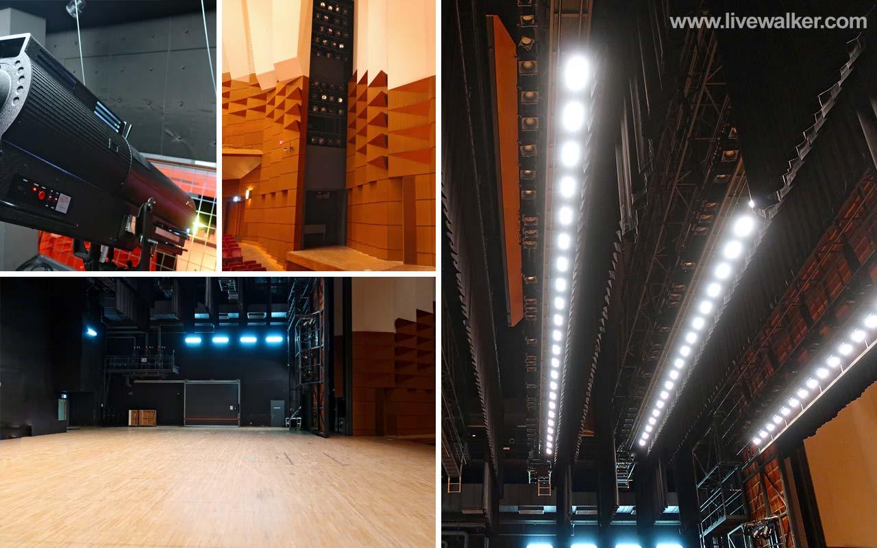 文京シビックホールのステージ・照明機器写真